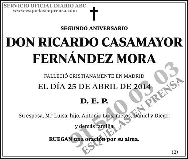 Ricardo Casamayor Fernández Mora